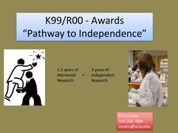 screenshot of a powerpoint presentation on preparing K99/R00 applications