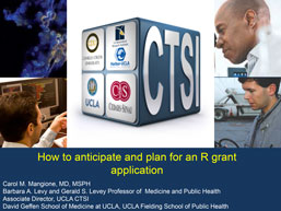screencapture of a powerpoint presentation focused on how to plan for an R grant application